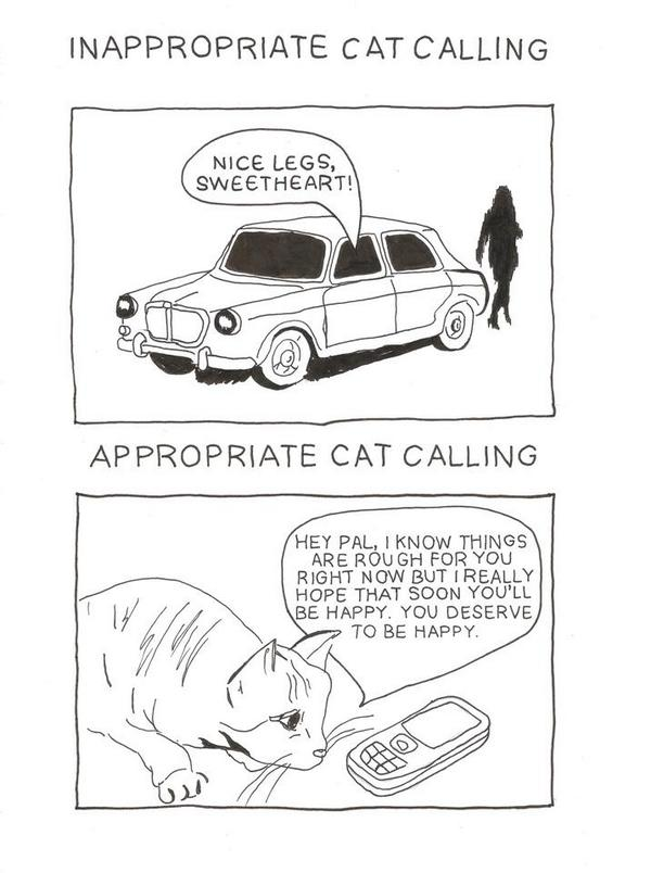 Appropriate catcalling